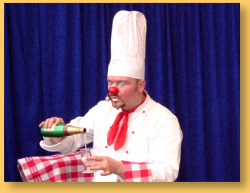 spectacle clown chef coq